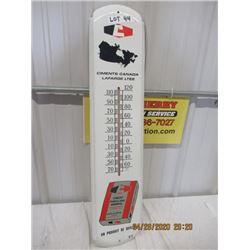 "VI-Metal La Farge Cement Thermometer 36"" x 8"" Vintage"