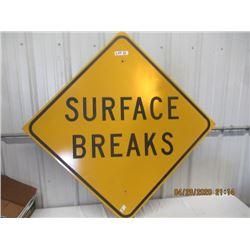 """Y- Metal Surface Breaks 36"""" x 36"""" Original Not That Old"""