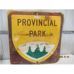 """LZ- Metal Provincial Park 36"""" x 36"""" - Vintage"""