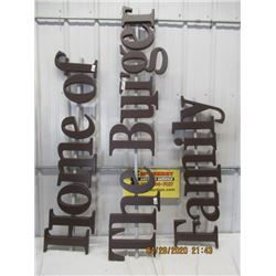 NS- Fibre-Material A & W Letter Sign - Home Of The Burger Family- 1' Letter Height-14' Long Total