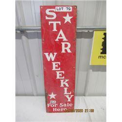 "CZ- Porc Star Weekly 28"" x 8""- Vintage"