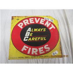 CZ- Metal Imperial TObacco Prevent Forest Fires Vintage