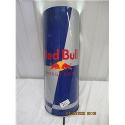 "CZ-Metal Back Plastic Sheild Red Bull Light Up Display 19"" x 7"" - Original Not Too Old"