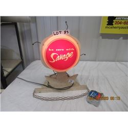 "Y-Light Up Motion Savage Store Display 16"" x 14"" - Vintage"
