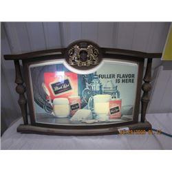 """V2- Plastic Light UP Black Label Beer  18"""" x 25"""" Vintage"""