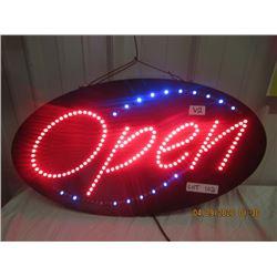 "V2- Plastic Light Up Open Sign 15"" x 27"" Original  Not Very Old"