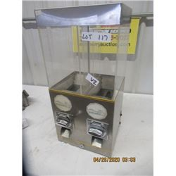 "V2- Coin Operated Hot Nut Dispenser- No Key No Cord 23"" x 11"" x 9"" - Modern"