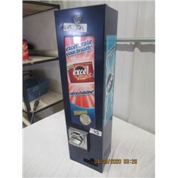 "V2- Metal Coin Operated Gum Vending Machine - Comes w Key 27"" x 7"" x 6"" - Modern"