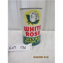CH- White Rose Ultra Motor H.D. Quart Can Vintage