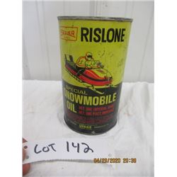 CH-Rislone Snowmobile Oil Quart- Never Opened w Product- Vintage