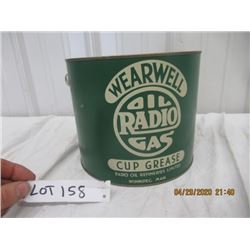 CTP- Wearwell Radio OIl Cup Grease- Approx 10 LB Vintage