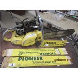 Y- Pioneer Chainsaw w 2 Extra Bars & Chain In Orig Packaging - W Vintage