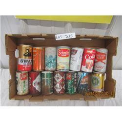 CZ- Pkg of 14 Older Pop & Beer Cans- Various Brands - Poor Condition - Vintage