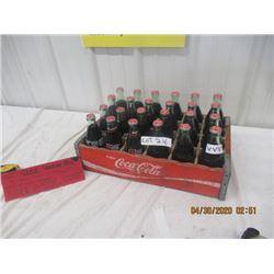 VVV- Wood Coke Case w 24 Bottles- Vintage
