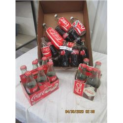 V2- 25 Various Coca Cola Bottles & 2 Carriers Original Not Very Old