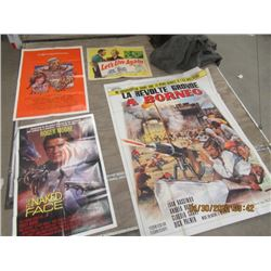 Y- Pkg of 6 Movie Posters 1) Let's Live Again 1948 1) The Last Remake 1977 1) Middle Age Crazy 1980
