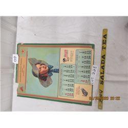 CTP - 1939 Calendar International Elevator Vintage