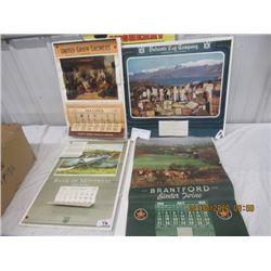 Y- Pkg of 4 Calendars 1) 1939 United Grain Growers 1) 1948 Brantford Binder Twine 1) Bank of Montrea