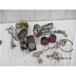 NS - Pkg of 10 ish- Tail Lights, Head LIghts, Adjustable Spot Lights, Lots of Parts - Vintage