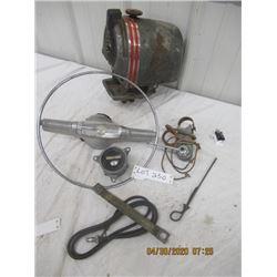 NS-Pkg of 5 Auto Heater, Steering Wheel Part w Saturn Speedometer Switch - Vintage