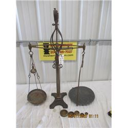 BN- Wat Avery Makers Balance Scale with Beehive Weights, BRass & Cast, Turn of the Century Vintage
