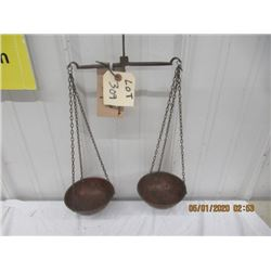 BN- Balancing Scale Copper Cup Trays Vintage