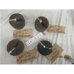 BN- 8 Scale Weights 5-40/10-80 Vintage