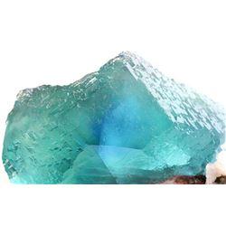Natural Bluish Green FLUORITE Mineral Specimen