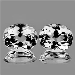 NATURAL Diamond Colorless WHITE TOPAZ Pair Flawless