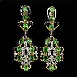 Natural Tsavorite Garnet Fashion Earrings