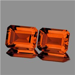 Natural  AAA Madeira Orange Citrine Pair 7x5 MM - FL