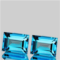 NATURAL BABY SWISS BLUE TOPAZ PAIR 12x9 MM [IF-VVS]