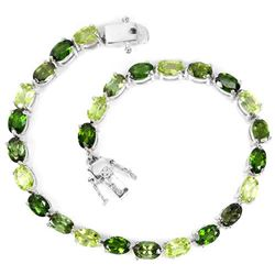 NATURAL CHROME DIOPSIDE PERIDOT & TOURMALINE BRACELET