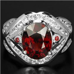 NATURAL RED SPESSARTITE GARNET Ring