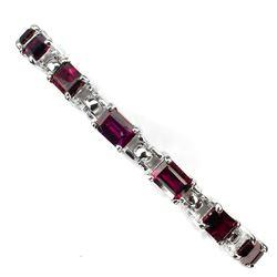 Natural  7x5mm Rhodolite Garnet Bracelet