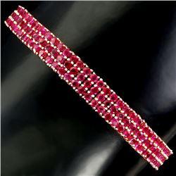 Burma Red Ruby Bracelet