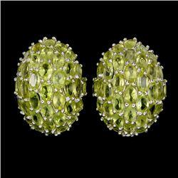 Natural Unheated Oval Peridot 60 Carats Earrings