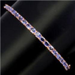 Natural 4x3mm Top Nice Blue Violet Tanzanite Bangle
