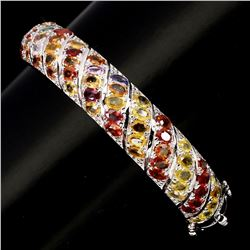 Natural Top Fancy Colors Sapphire 199 Ct Bangle
