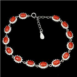 Natural Italian Red Coral Bracelet