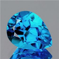 Natural AAA Swiss Blue Topaz {Flawless-VVS1}