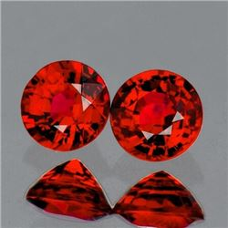 Natural  AAA Red Orange Sapphire Pair{Flawless-VVS1