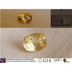 Vivid Gold/Yellow Sapphire, unheated   GIA 2.45 ct
