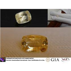 Pastel Yellow Sapphire, Sri Lanka, premium cut 1.45 ct