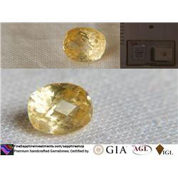 Yellow Metallic Sapphire, unheated   GIA 2.05 ct