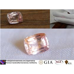 Padparadscha Sapphire, premium cut   GIA 1.14 ct