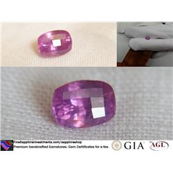 Tri-color Pink/Purple/Red Sapphire | GIA 1.59 ct