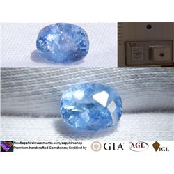 Vivid Blue Sapphire, premium handcrafted, AGL 2.13 ct
