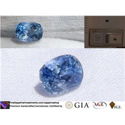 Vivid Blue Sapphire, premium handcrafted, AGL 1.70 ct