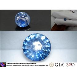 Vivid Blue Madagascar Sapphire, handcrafted 3.14 ct